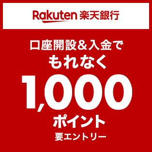 カンタン無料口座開設&入金で1,000ポイント!